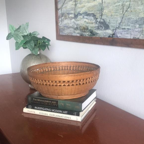 Large vintage boho basket